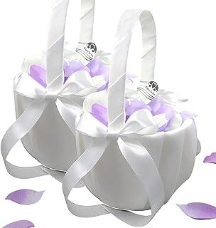 EinsSein 2X Streukörbchen Hochzeit Julia Blumenkinder Hochzeit Blumenkorb Blumenkörbe Blumenmädchen Blumendeko Basket Girl Flower
