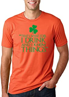 Wild Bobby Drink and I Know Things | Got Green Shamrock | Mens ST. Patrick's Day Tee Graphic T-Shirt