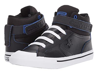 Converse Kids Pro Blaze Strap Hi (Little Kid/Big Kid) (Black/Almost Black/Hyper Royal) Boy