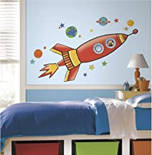 RoomMates Rocket Giant Wall Decals (Multi Color)