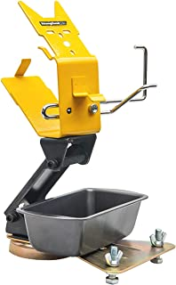 """Strong Hand Tools, Grinder Rest with Adjustable Cable Hanger, Anti-tipping plate with Part Storage, Holds 4.5"""" - 7"""" Grinde..."""