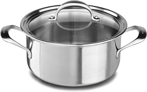 2021 KitchenAid 5-Ply Copper Core 6 wholesale quart Low Casserole with Lid outlet sale - Stainless Steel, Medium, Stainless Steel Finish outlet online sale