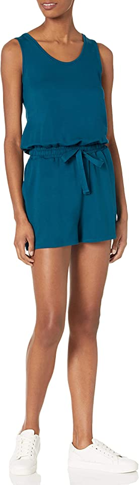 Amazon Brand - Daily Ritual Women's Supersoft Terry Sleeveless Relaxed Fit Romper