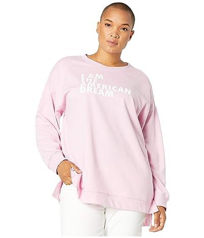 DUBGEE by Whoopi Plus Size American Dream Sweatshirt (Pink) Women