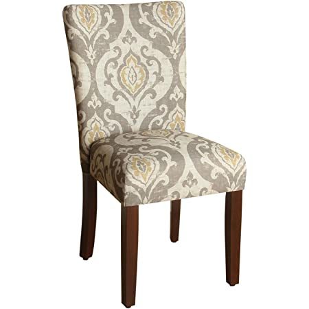 Homepop Parsons Classic Upholstered Accent Dining Chair Set Of 2 Taupe And Cream Medallion Chairs