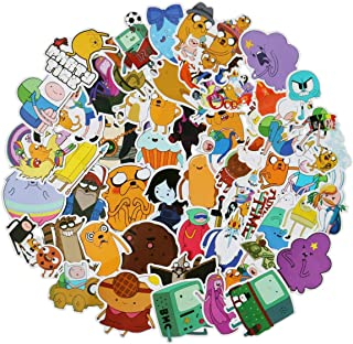 50pcs Adventure Time Stickers Pack Waterproof Vinyl Car Sticker for Laptop Motorcycle Bicycle Luggage Decal Graffiti Patches Skateboard Stickers for Kid and Adult