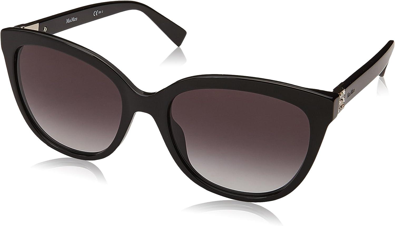 Max Mara Women's Mm Tile Square Sunglasses, Black, 55 mm