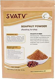 SVATV :: Reetha/Aritha Powder/Soap Powder (Sapindus Laurifolia) PARA PELOS SILKY - (227g / (1/2 lb) | Acondicionador para el cabello excelente