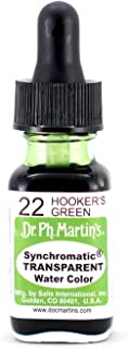 Dr. Ph. Martin's Synchromatic Transparent Water Color, 0.5 oz, Hooker's Green (22)