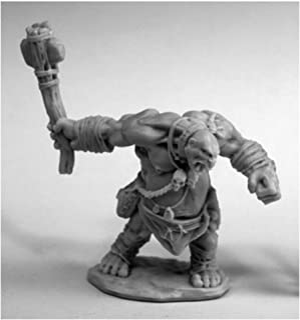 مینیاتورهای دروگر Ogre Clubber # 77454 استخوان های پلاستیکی D&D RPG Mini شکل