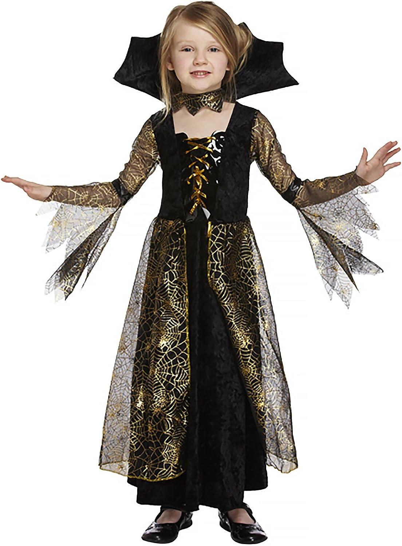 (79 Years)  Salveo Girls Spiderella Vampire Vampire Vampire Spider Witch Halloween Costume Dress for 412 Years f0527c
