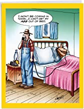 A-s Out Of Bed - Funny Donkey Get Well Card with Envelope (Big 8.5 x 11 Inch) - Sick Horse in Bed, Adult Feel Better Card From All Of Us - Cartoon Notecard Stationery, Get Well Soon J1365GWG-US