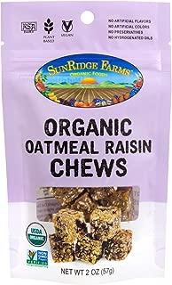 SunRidge Farms EnergyGO Organic Oatmeal Raisin Chews 2 Ounce Bag (Pack of 8)