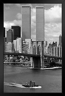 World Trade Center New York City 1976 Photo Black Wood Framed Art Poster 14x20