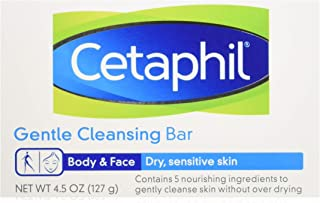 Cetaphil Gentle Cleansing Bar for Dry/Sensitive Skin 4.50 oz (Packs of 6)