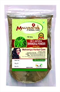 Organic 100% Natural Bhringraj Powder (ECLIPTA ALBA) for Fighting Hair Fall Naturally (0.22 Lb/100Grams) RESEALABLE Bag