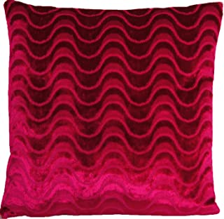 Raspberry Velvet Colour Décor Pillow Throw Case Designers Guild Fabric Cushion Cover Marlia