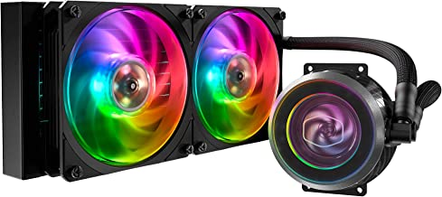 Cooler Master Masterliquid ML240P Mirage CPU Water Cooler with 2X 120mm ARGB Fans, 240 x 120mm Radiator, PWM Pump, MasterGel Pro Thermal Compound and ARGB Controller Included