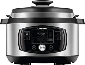 Chefman Multi-Function Oval Pressure Cooker 8 Quart Extra Large Programmable Multicooker,..