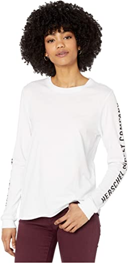 Sleeve Print Bright White/Black
