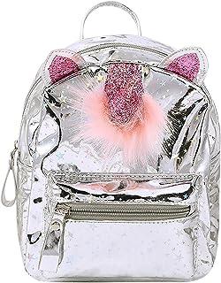 Amamcy Kids Cartoon Ear Shiny Backpack Schoolbag Casual Daypack Shoulder Bag Satchel for Girls Boys