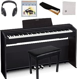 Casio PX870 Black   Super Bundle   Includes Headphones + Piano Bench + Polishing Cloth + Piano Dust Cover + Lesson Book