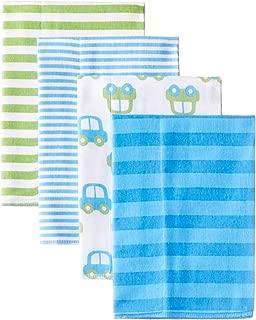 Baby Boys' 4-Pack Flannel Burp Cloth