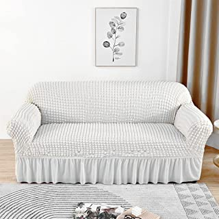 skyfiree Sofa Slipcover Universal High Stretch Couch Cover 1 Piece Soft Loveseat Sofa Cover for 2 Cushion Couch Elastic Du...