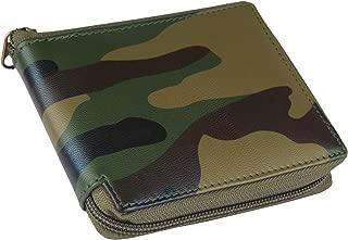 Designer Bugs Zipper    Beige-Colour Synthetic Leather Wallet    Unisex Mini Short Round Zipper Wallet (Army)