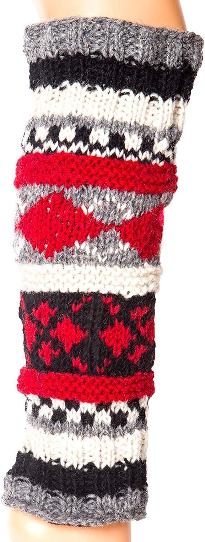 Hand Knit Wool Fleece Lined Leg Warmers Boot Toppers…