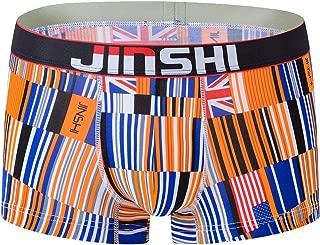 Men's Underwear Stretch Boxers Briefs for Men Short Leg Underpants Breathable Comfortable Fiber Pack