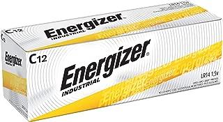 Energizer EN93 Industrial C 12 Alkaline Batteries, Pack of 12