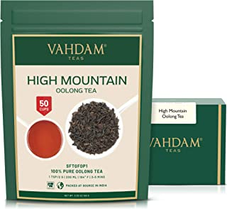 VAHDAM, High Mountain Oolong Tea Leaves from Himalayas (50 Cups), 3.53oz, OOLONG TEA FOR WEIGHT LOSS, 100% Detox Tea, Weig...