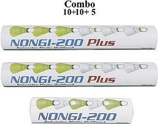 NONGI Plus Plastic Badminton Shuttlecock Pack of 25