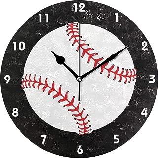 MIKA 置き時計 掛け置き両用 卓上 時計 おしゃれ 壁掛け時計 モダン アート インテリア ウォールクロック 壁時計 新生活 置時計・掛け時計 野球 デザイン