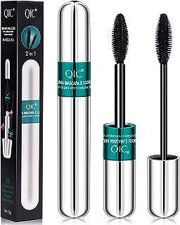 2 in 1 Double High Effect Mascara - 4D Silk Fiber Lash Black Mascara, Superstrong Waterproof, Best for Eyelash Lengthening...
