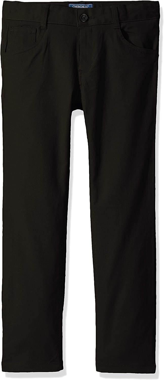 Cherokee School Uniforms Boys' Big Modern Fit Flex 5-Pocket Twill Pant