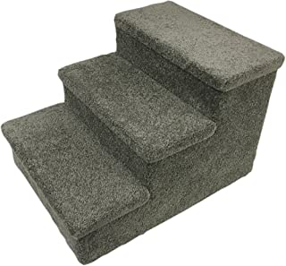 Penn-Plax 3 Step Carpeted Pet Stairs for Both Cats and Dogs, 150 lb 12.75