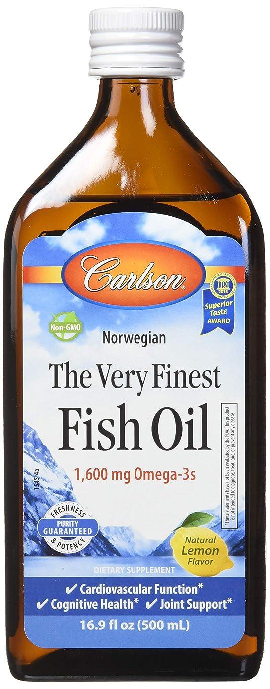 資格分類するロケーションCarlson Labs - 最も良いノルウェーの魚オイル液体Omega-3レモン味 1600 mg。16.9ポンド