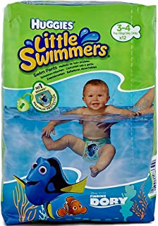 Huggies Little Swimmers Disposable Swim Diapers, Small (15lb-34lb.), 12-Count