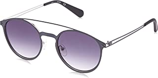 GUESS Men's Round Top-Bar Sunglasses