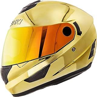 blue chrome helmet