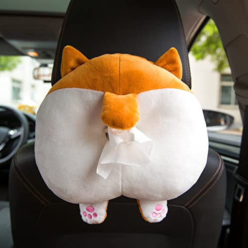 lowest Creative Tissue Box Cover Soft Adorable online sale Corgi Butt Shaped Paper Storage Bag Hanging Pouch Tissue Box Wrapper Toy Cartoon lowest Animal Tissue Paper Holder Case for Car Home online sale