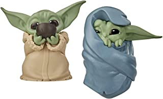 "Star Wars The Bounty Collection The Child Collectible Toys 2.2-Inch The Mandalorian ""Baby Yoda"" Sipping Soup, Blanket-Wrap..."