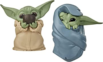 "Star Wars The Bounty Collection The Child Collectible Toys 2.2-Inch The Mandalorian ""Baby Yoda"" Sipping Soup, Blanket-Wrapped Figure 2-Pack"