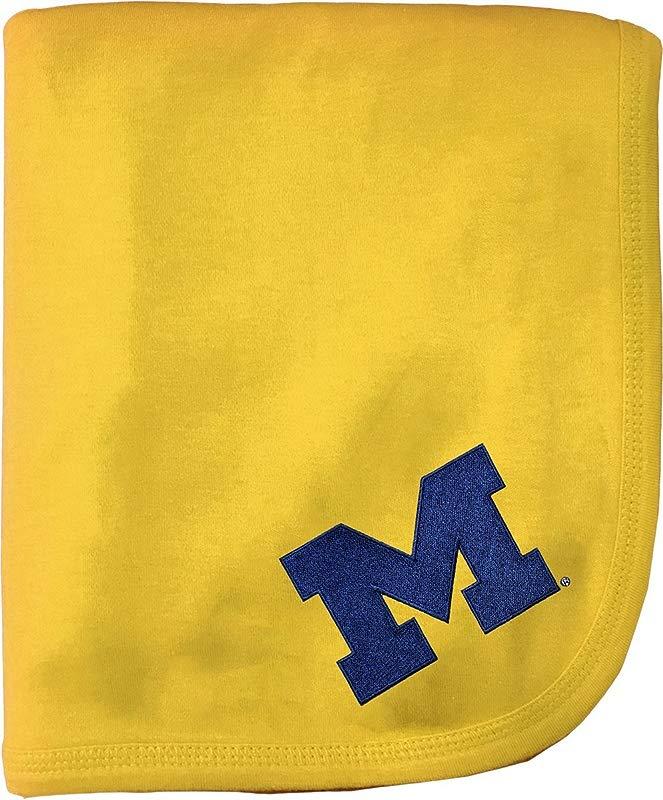 University Of Michigan Wolverines Block M NCAA Baby Blanket 33 X 36