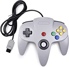 Classic N64 Controller, kiwitatá Retro Wired Game Pad Console Controller Joystick for N64 Video Console 64 System Gray