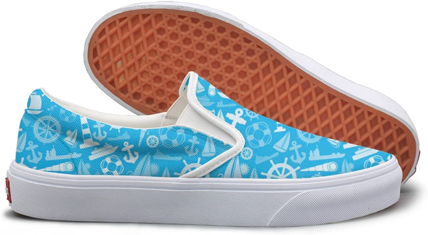 Nautical And Marine Icons Top Sneakers For Women