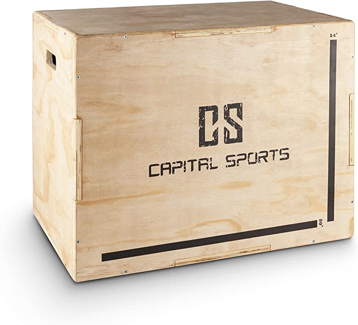 Plyo box capital sports shineater jump box strong edit per saltare allenamento plyometrico superfici levigate B014L5A16M