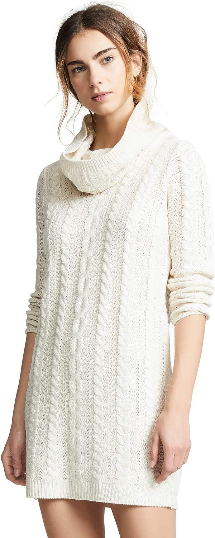 BB DAKOTA Women's Alaska Cowl Neck Cable Sweater Dress